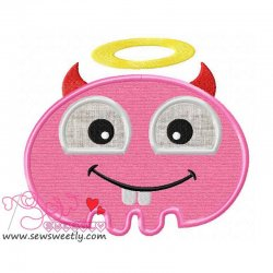 Cute Monster Applique Design