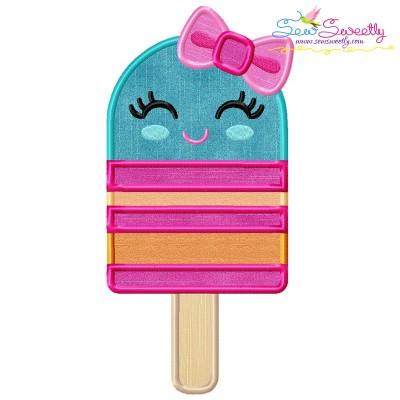 Girl Popsicle Applique Design