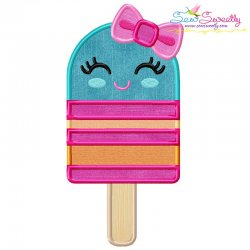 Girl Popsicle Applique Design