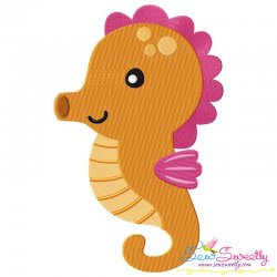 Cute Baby Seahorse Embroidery Design