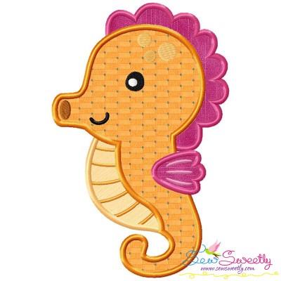 Cute Baby Seahorse Applique Design