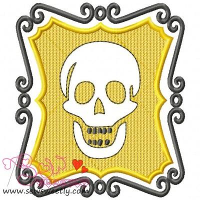 Embossed Skull-1 Embroidery Design