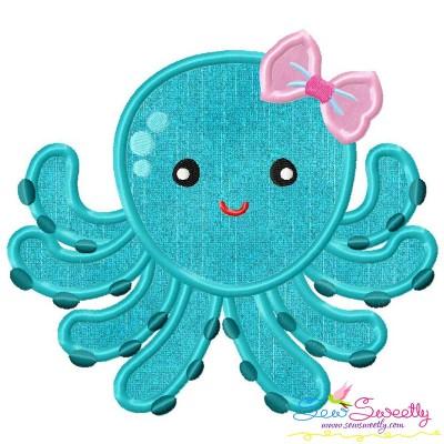 Girl Octopus Applique Design