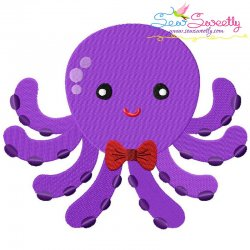 Boy Octopus Embroidery Design