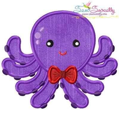 Boy Octopus Applique Design