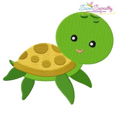 Cute Sea Turtle Embroidery Design