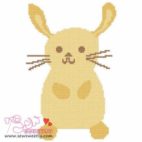 Cute Bunny Cross Stitch Embroidery Design