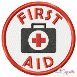 First Aid Badge Machine Embroidery Design