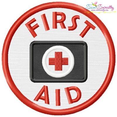 First Aid Badge Applique Design