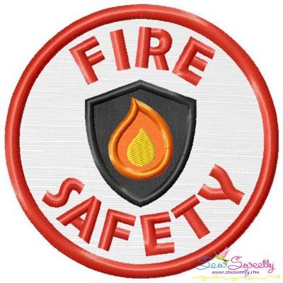 Fire Safety Badge Applique Design