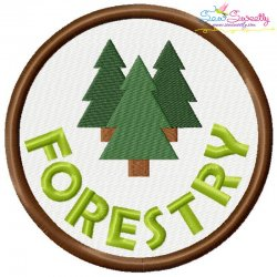 Forestry Badge Machine Embroidery Design