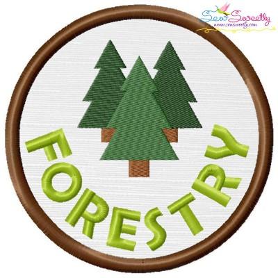 Forestry Badge Applique Design