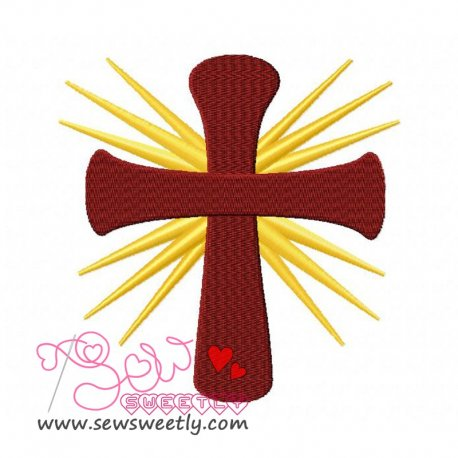 Cross-1 Embroidery Design Pattern- Category- Religious Designs- 1