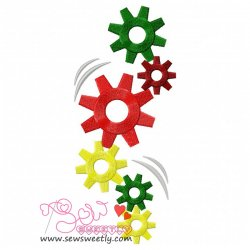 Gears in Motion Embroidery Design
