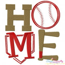 Baseball Home Machine Embroidery Design