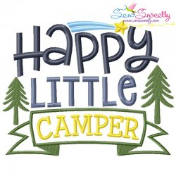 Happy Little Camper Embroidery Design