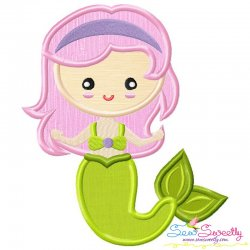Green Mermaid Applique Design