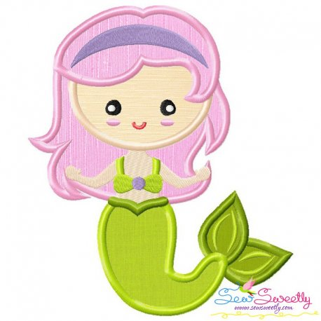 Green Mermaid Applique Design
