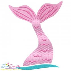 Mermaid Tail Embroidery Design
