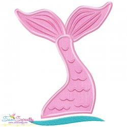 Mermaid Tail Applique Design