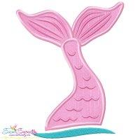 Mermaid Tail Applique Design