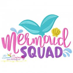 Mermaid Squad Embroidery Design