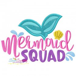 Mermaid Squad Applique Design