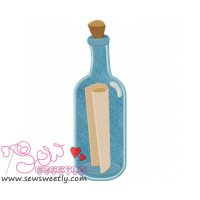 Pirates Message in a Bottle Applique Design