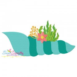 Auger Shell Embroidery Design