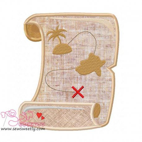 Pirates Map Applique Design