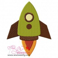 Rocket-1 Embroidery Design