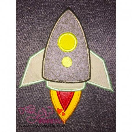 Rocket-1 Applique Design