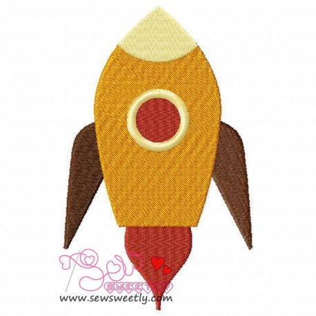 Rocket-2 Embroidery Design