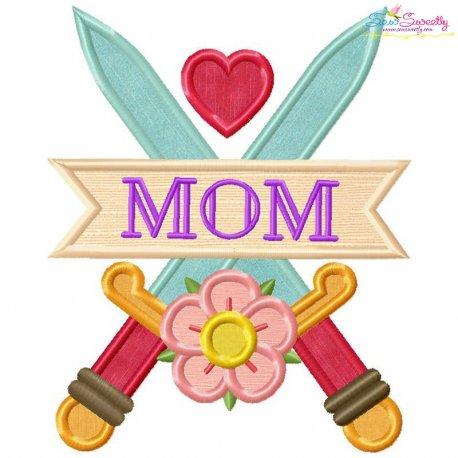 Mom Tattoo Swords-2 Applique Design