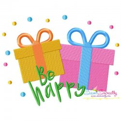 Be Happy Machine Embroidery Design