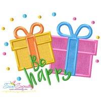 Be Happy Applique Design