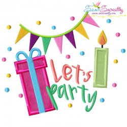 Let's Party Applique Design