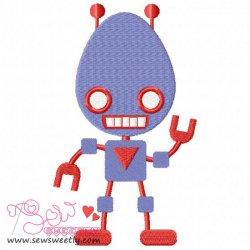 Robot-2 Embroidery Design