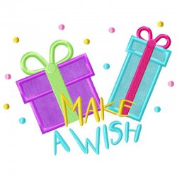 Make a Wish Applique Design