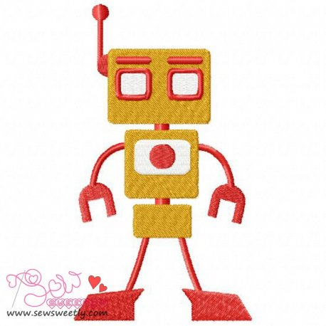 Robot-1 Embroidery Design