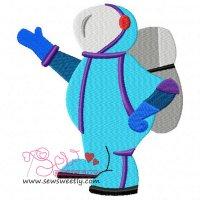 Astronaut-2 Embroidery Design