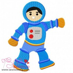 Astronaut-1 Embroidery Design