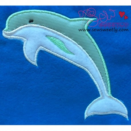 Dolphin Applique Design For Kids