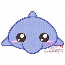 Cute Dolphin Embroidery Design