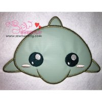 Cute Dolphin Applique Design