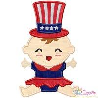 Patriotic Baby-3 Applique Design