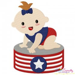 Patriotic Baby-2 Embroidery Design