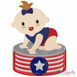 Patriotic Baby-2 Applique Design