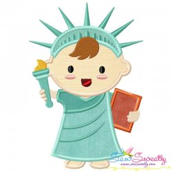 Patriotic Baby-1 Applique Design