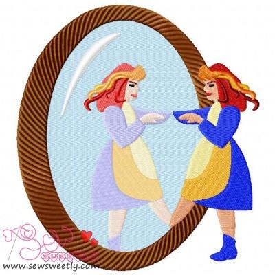 Magic Mirror Embroidery Design
